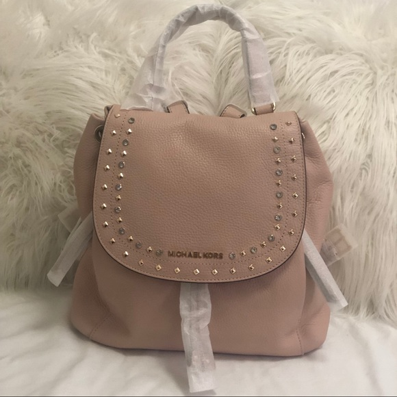 NWT Michael Kors Large Riley Backpack Pastel Pink 0a1d92ae5329a